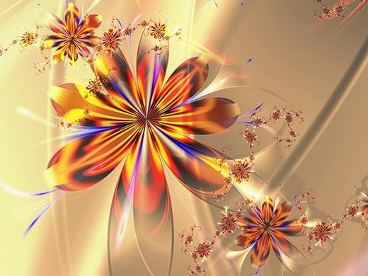 Фрактальные цветы