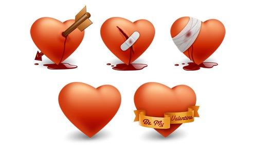 5 иконок к дню Св. Валентина