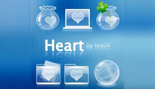 Иконки с сердцами