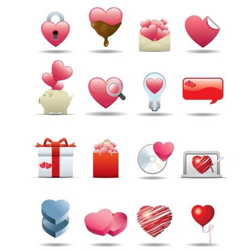 Стильные иконки сердца