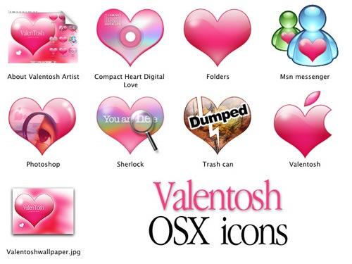 Иконки для Mac OSX на тематику дня Св. Валентина