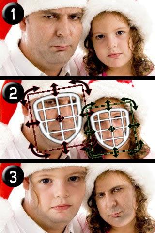 Замена лица на фото iPhone