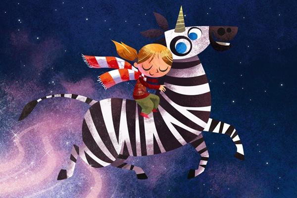 зебра-единорог