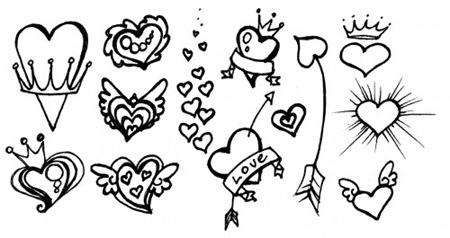 Сердца-зарисовки для Фотошопа
