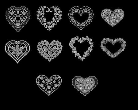 Аккуратные цветочные сердца