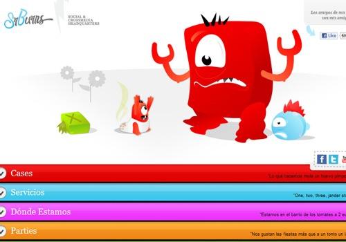 забавные монстрики в дизайне