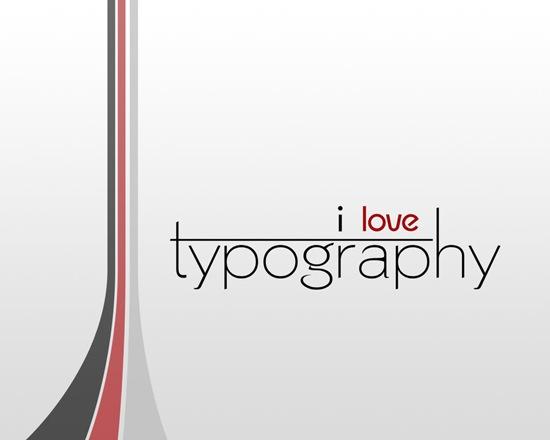чистый типографический дизайн