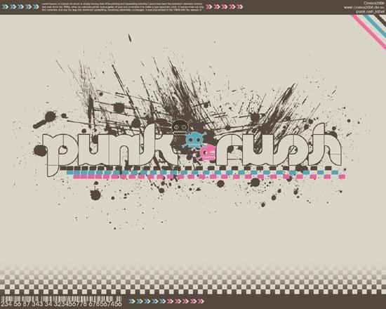 брызги краски и типографика