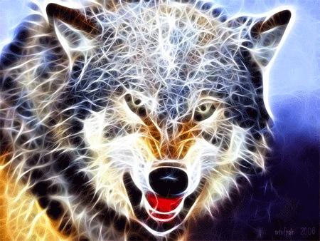 Фрактальный волк