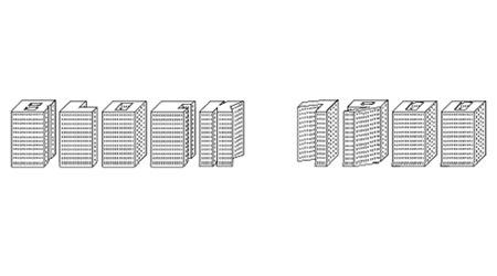 Шрифт в виде блоков