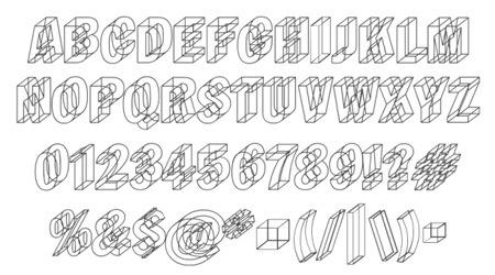 Шрифт с отражением