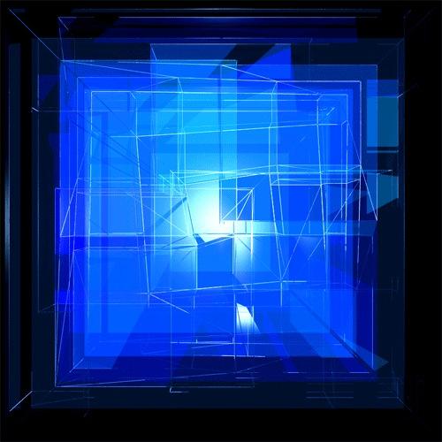 Голубой звездный куб