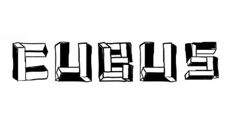 Кубический шрифт