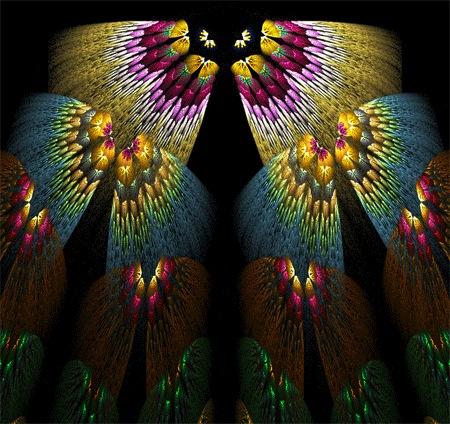 Фрактальные бабочки