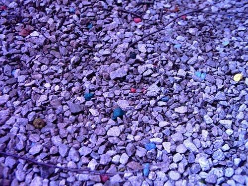 Галька в фиолетовых оттенках