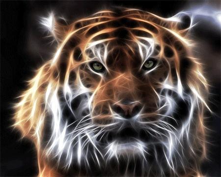 Фрактальный тигр
