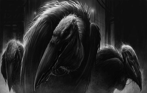 страшная птица