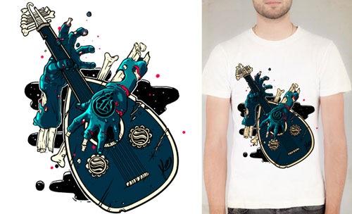 иллюстрация на футболке