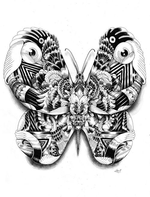 симметричная бабочка