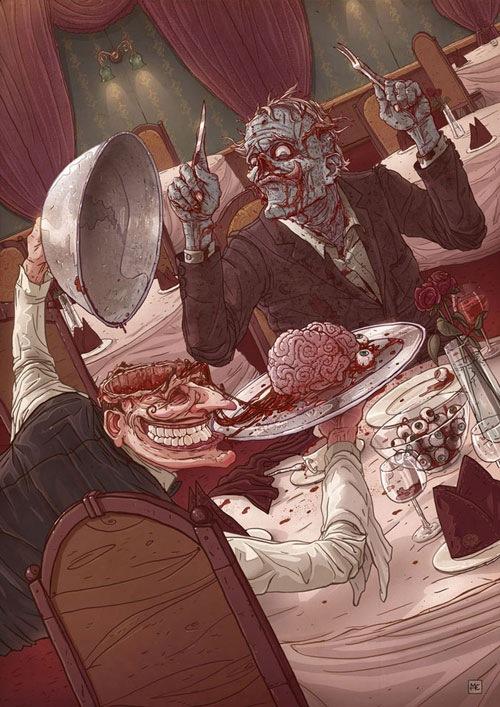 обед зомби