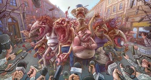 монстры в городе