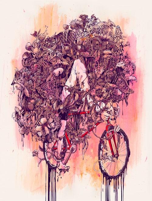 обросший велосипед