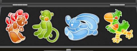 Яркие иконки животных