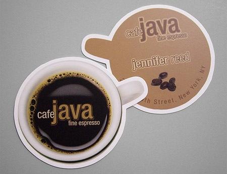 Визитка для Кафе
