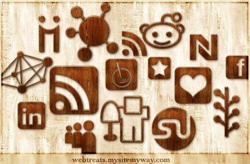Социальные иконки под дерево