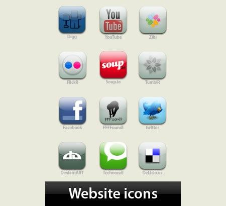 Иконки веб сайтов