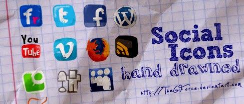 Социальные иконки-наброски