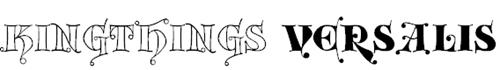 Крупный шрифт с окантовкой