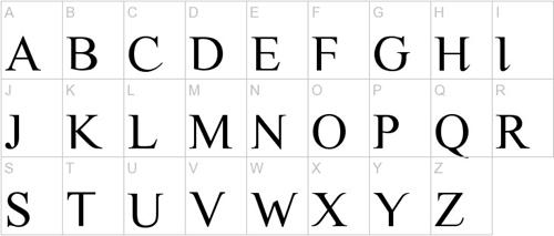Аккуратный прописной шрифт old script