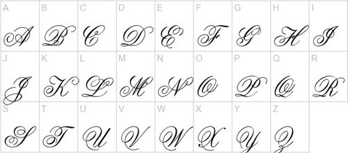 Аккуратный прописной шрифт