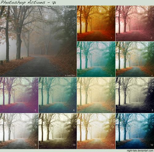 12 экшенов цвета