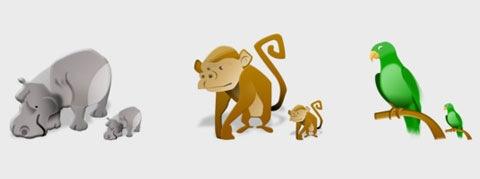 Иконки животных Сафари