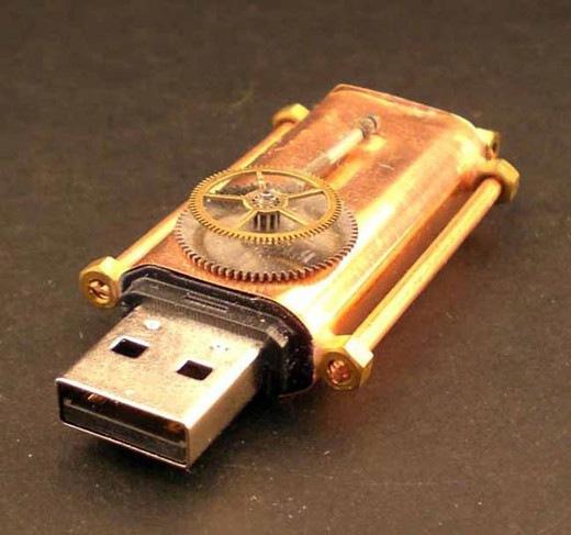 Механический медный USB переходник