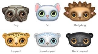 Глазастые иконки животных