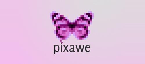 пиксельная бабочка