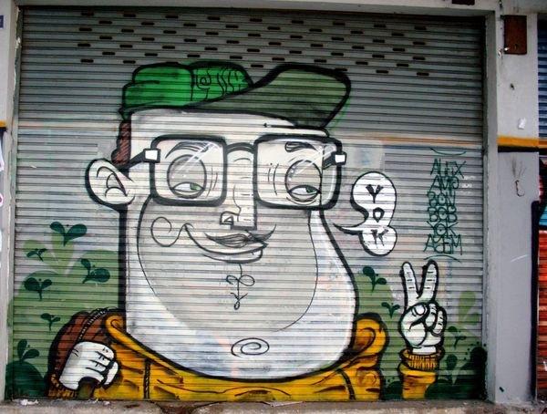 граффити на гараже