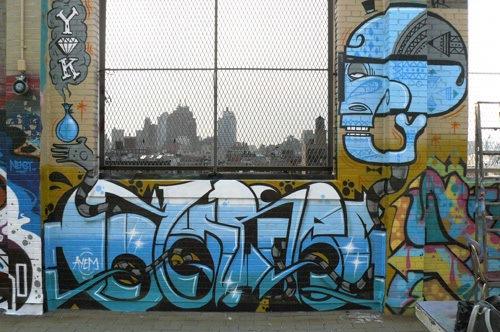 стена с граффити