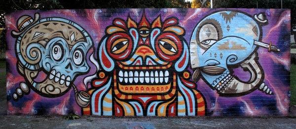яркие граффити рисунки