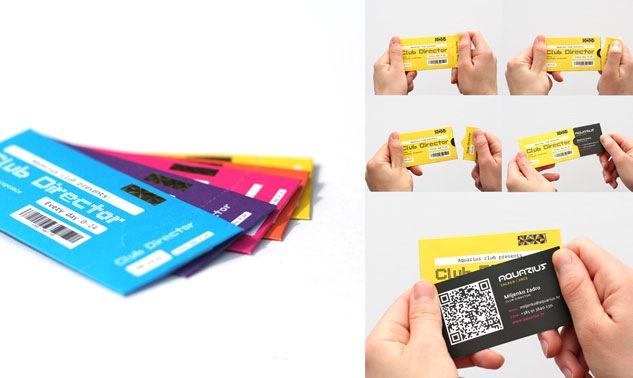 визитки в кармашке