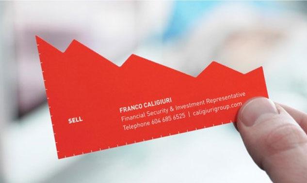 визитка с углами
