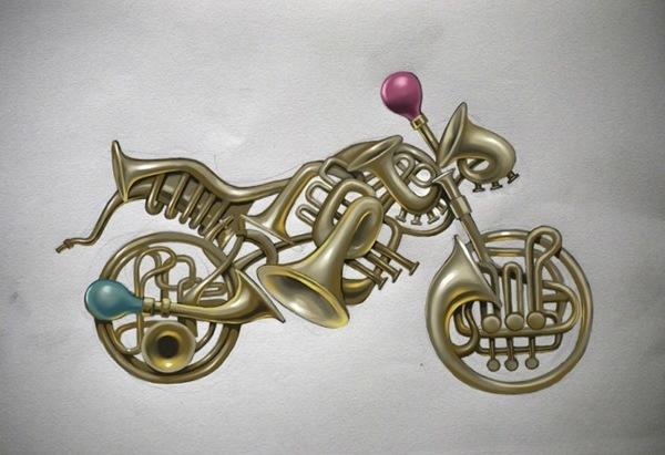 мотицикл из труб
