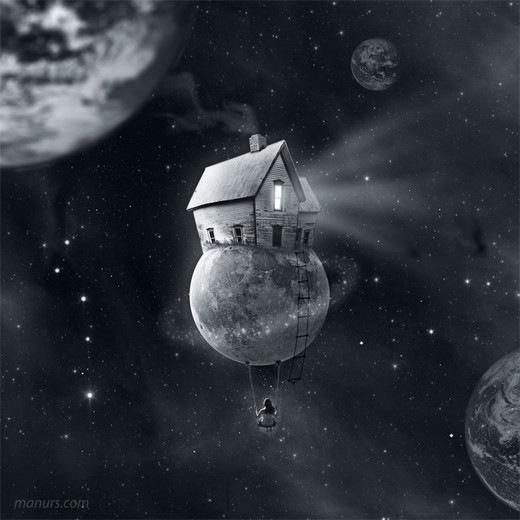 дом на луне