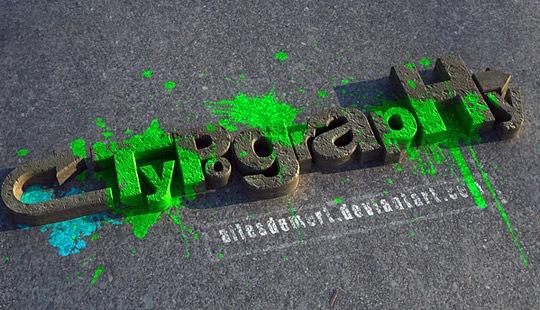 3D типографика и яркие краски
