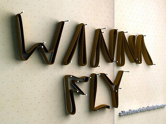 Типографика из ремней