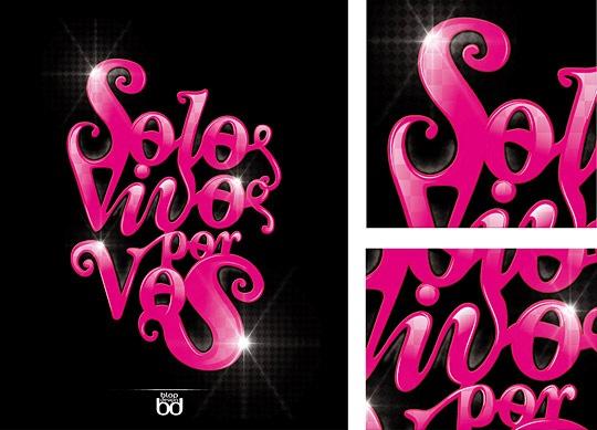 Яркий блестящий типографический дизайн