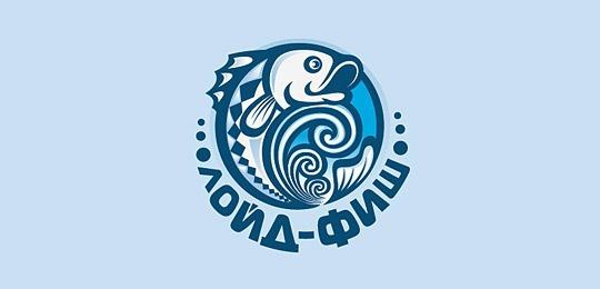 Логотип с изображением рыбы